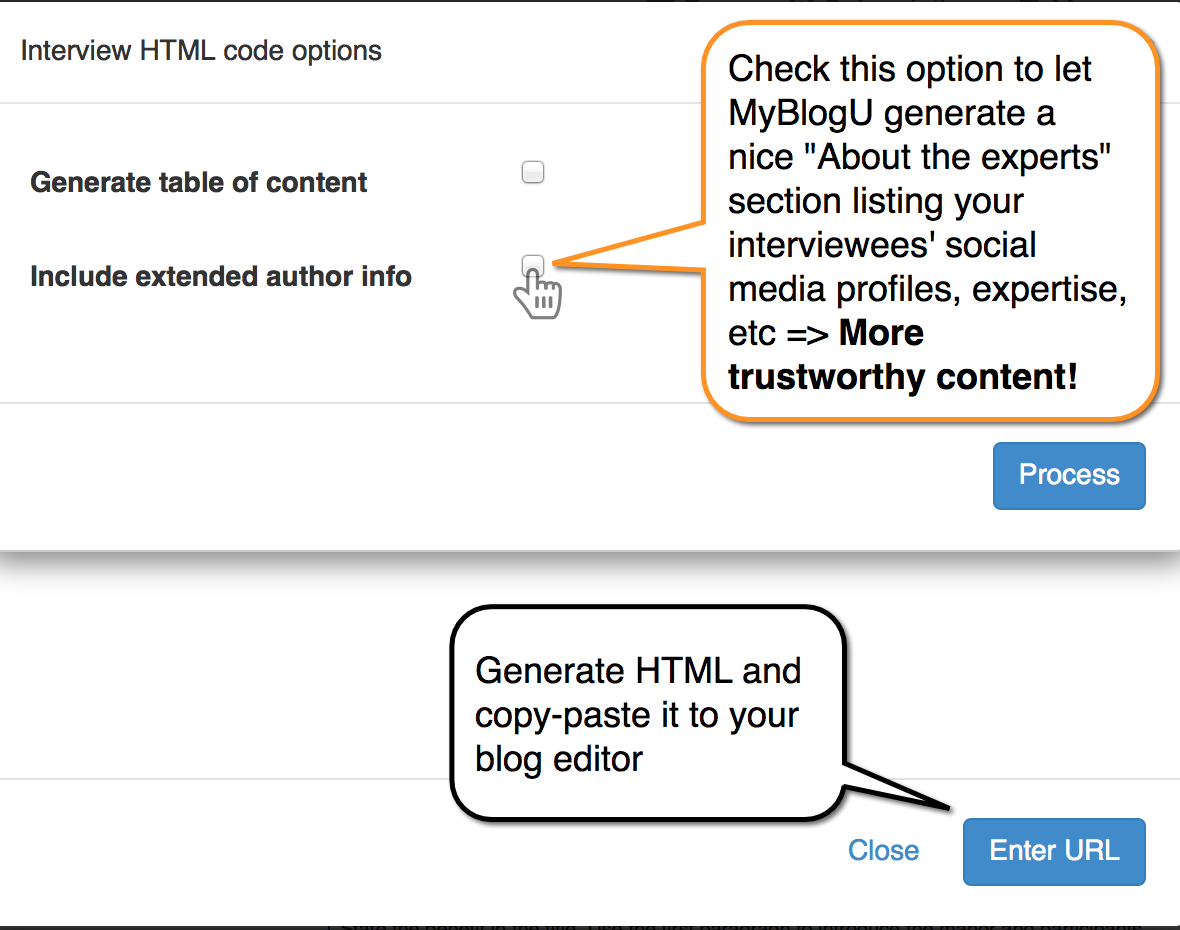 """Generate """"About experts"""" section to include in your article"""