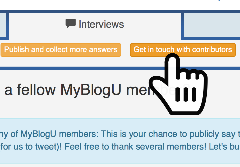 Email all the contributors MyBlogU