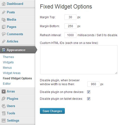 Sticky widget with your lead gen form