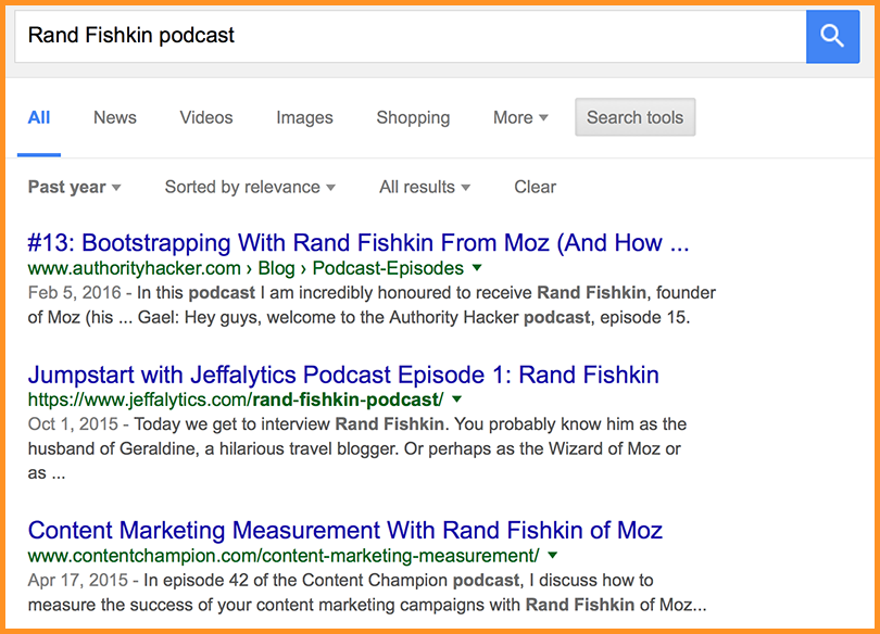 Podcasts in your niche